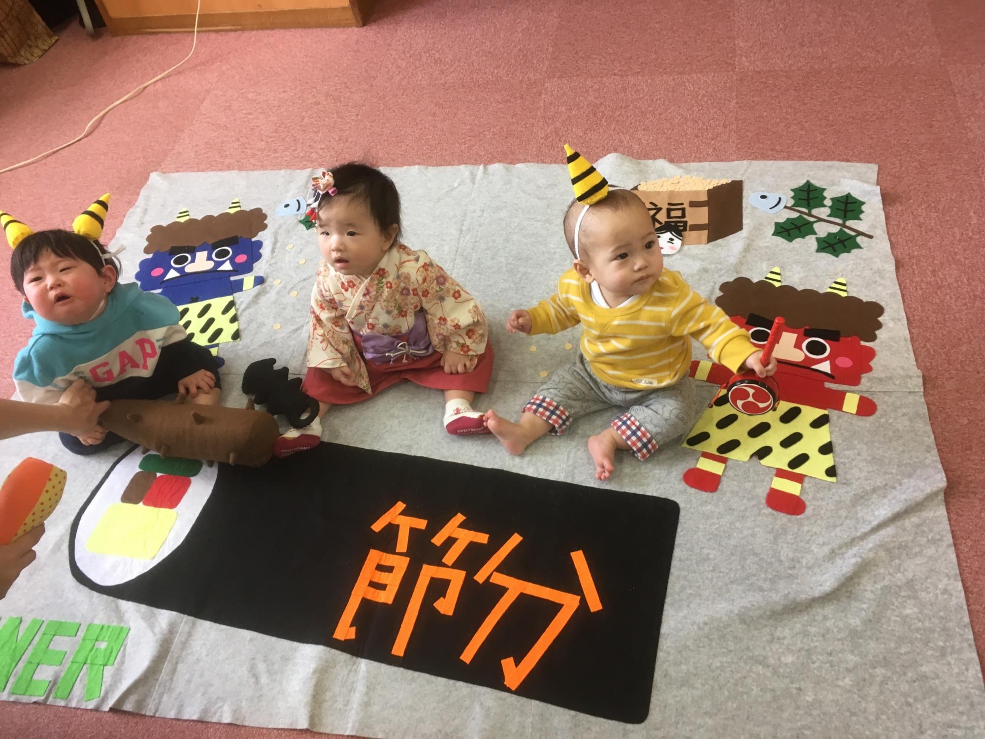 神戸市立六甲道児童館1/28「寝相アート」